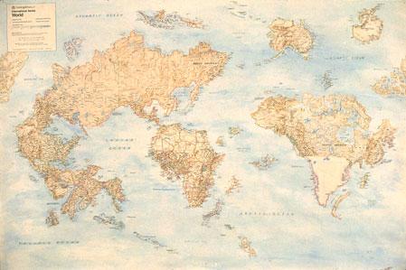 World Map by Nina Katchadourian