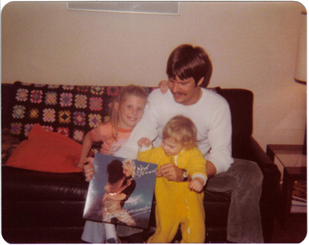 Me and Cyndi and Dad and Rod Stewart